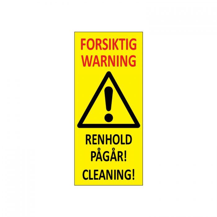 Varselpost forsiktig renhold pågår rning cleaning : Bsafe Systems AS