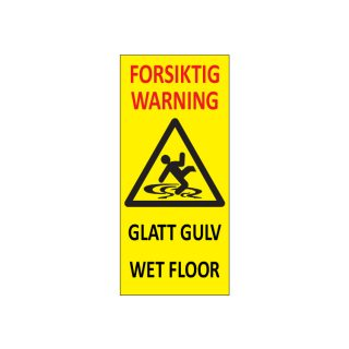 Varselpost Forsiktig glatt gulv - Warning wet floor : Bsafe Systems AS