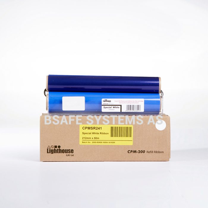 Fargebånd refill CPM-200 Spesial Hvit CPMSR241 : Bsafe Systems AS