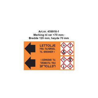 Rørmerking rull 459916-1 Rør mindre enn 70 mm