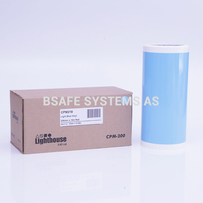 Vinylfolie CPM-200 lys blå : CPM218 : Bsafe Systems AS