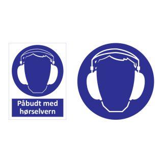 Påbudt med hørselvern skilt : Bsafe Systems AS